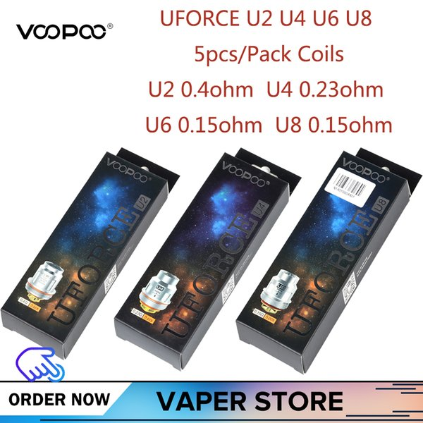 5-10 unids VOOPOO Uforce U2 U4 U6 U8 Bobina de repuesto para Voopoo Uforce Tank Drag 2 KIT Drag mini KIT Versión de platino