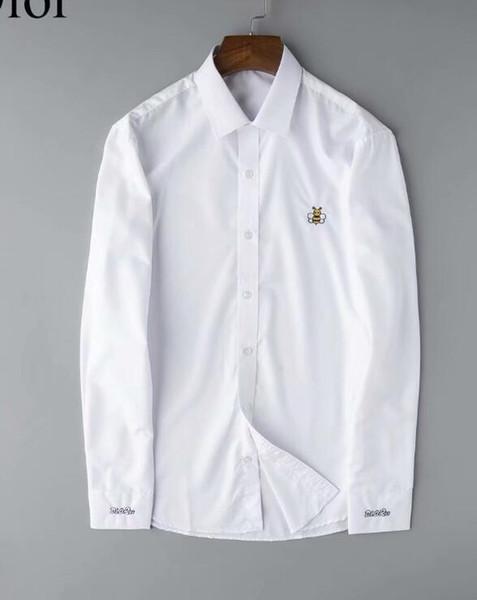 Erkek Moda Gömlek Uzun Kollu Katı Renk Günlük Gömlek 2019 Kış Yeni bluz İnce mandalina yaka Çocuklar OverShirt111