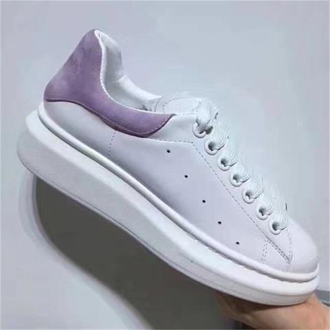 En Lüks Tasarımcı Ayakkabı Bayan Erkek Eğitmenler Beyaz Deri Platformu Düz Rahat Parti Düğün Ayakkabı Süet Spor Sneakers