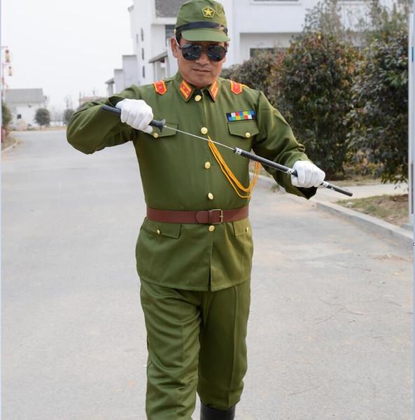 WW II Japon İmparatorluk subayı Geleneksel bağbozumu yeşil üniforma japon askeri kostüm WW2 Japon Askeri Üniforma Japonya