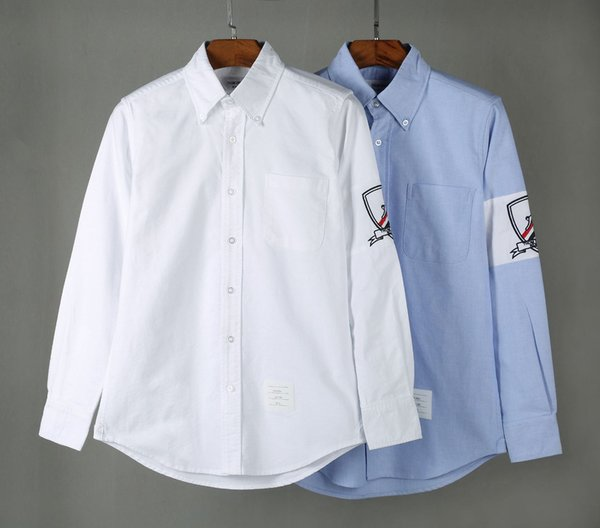 Alta qualità TB shirt Chao Camicia Oxford Spinning ricamato Sci europei e americani shirt manica lunga da uomo Recreational