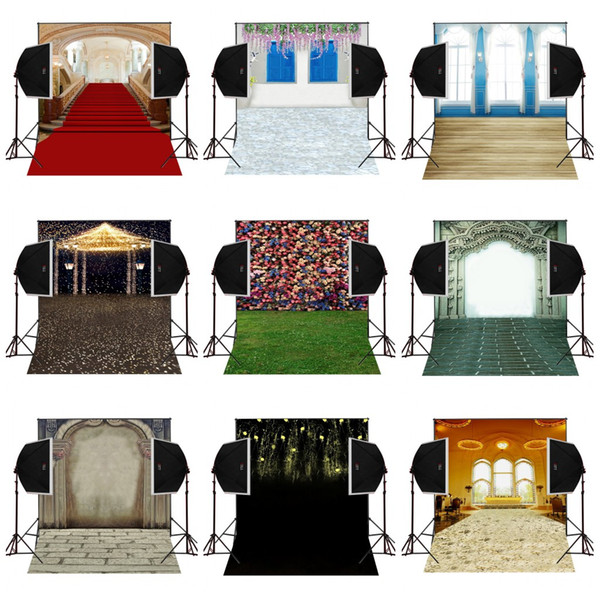 custom 5X7FT red carpet stairs wedding vinyl photography backdrop photo background digital music studio prop comunion decoracion for party