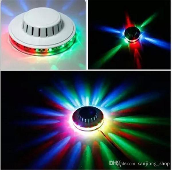 UFO magic bulb 48 LEDs Mini RGB LED Stage Effect Lighting Lamp Bulb Disco DJ Party AUTO Rotating Club Light
