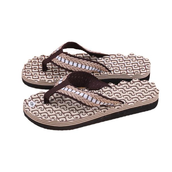 2018 New Fashion High Quality Men Summer Soft Casual Men Flat Wedge Sandals Thong Flip Flops Slippers Beach Stylish EVA Outdoor