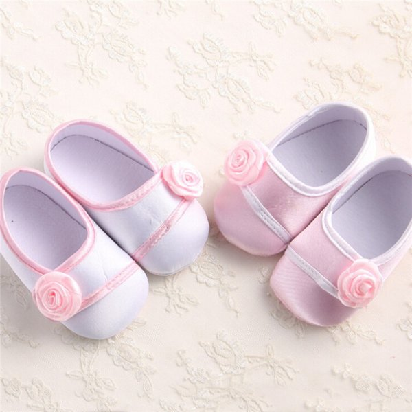 Baby Girls Shoes Fashion Newborn Infant Baby Girls Solid Flower Shoes Soft Sole Anti-slip Baby First Walker Shoes M8Y14