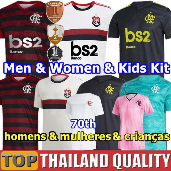 2019 CR Flamengo Soccer Jerseys 19 20 Flemish GUERRERO DIEGO VINICIUS JR Flamenco football set GABRIEL B Men Woman Kids kit uniforms