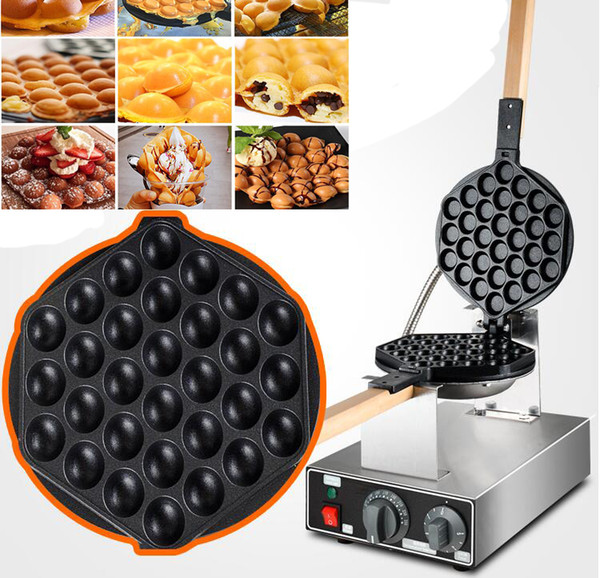 top popular Free Shipping 5 Units Lot Egg Waffle Maker For Model FY-6 Bubble Waffle Maker  egg puffs machine 2021