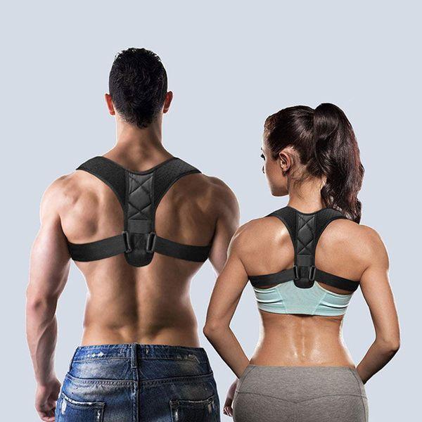 top popular Medical Adjustable Clavicle Posture Corrector Men Woemen Upper Back Brace Shoulder Lumbar Support Belt Corset Posture Correction 2020