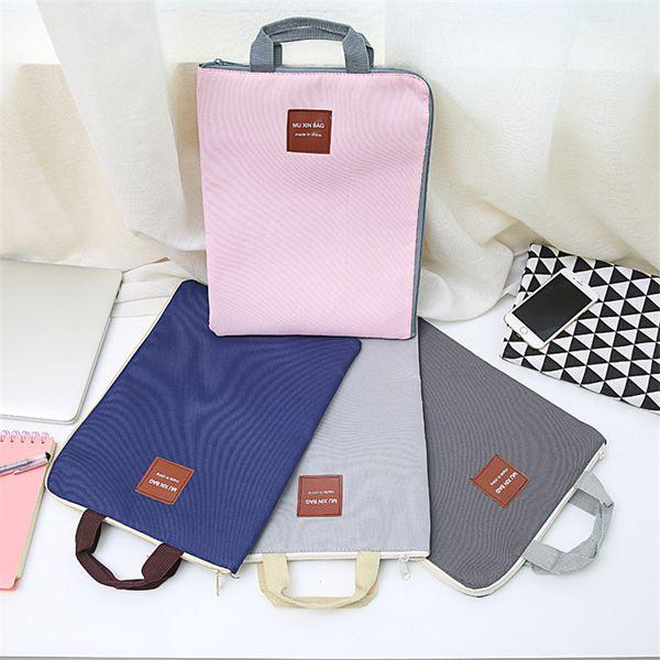 A4 Zipper Canvas File Bag A4 Canvas File Folder Bag Document Organizer Bag Student A4 Zipper Document Organizer