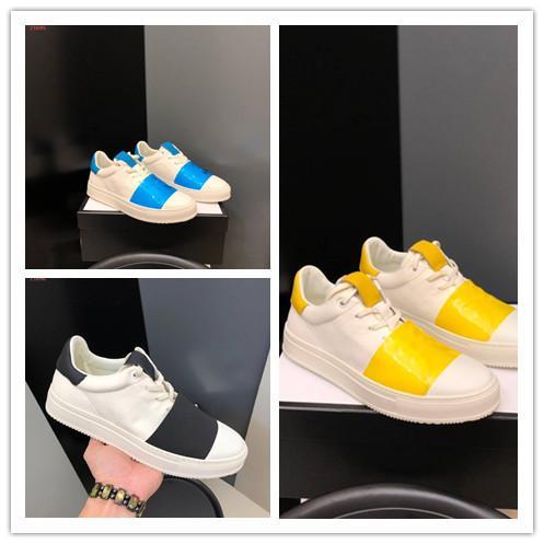 2019 Hot England Stil Herren Freizeitschuhe Top-Qualität aus echtem Leder Freizeit Mode bequem atmungsaktiv Lace-Up Sneaker