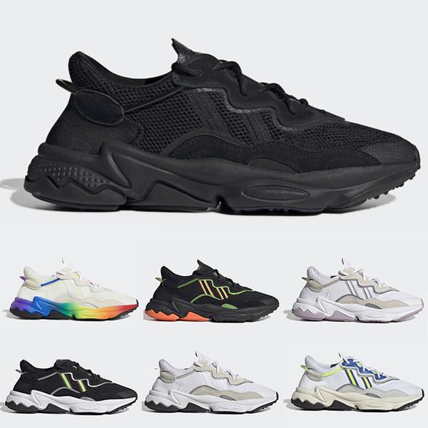 Acheter 2019 Adidas Ozweego Shoe Marque 3M Ozweego Hommes Femmes Teinte Bleue Triple Noir Solaire Jaune Jaune WMNS Chaussures De Course Entraîneur