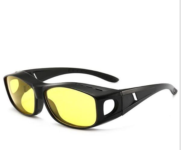 Dual-purpose yellow polarizing sunglasses night vision goggles night driving anti-dazzling myopia glasses set