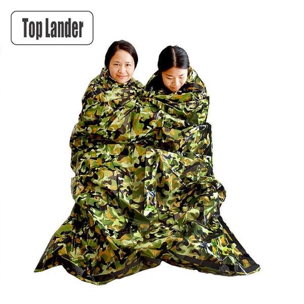 Camouflage Survival Emergency Sleeping Bag Thermal Keep Warm Waterproof Mylar Double First Aid Emergency Blanket Outdoor Camping