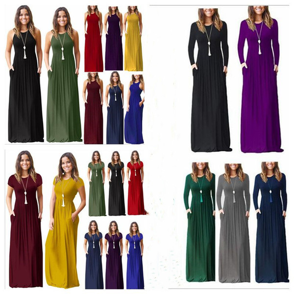 Sommer kleider frauen maxi casual dress lange feste dress party strand sommerkleid bodycon designer dress frauen kleidung vestidos 23 farben b3910