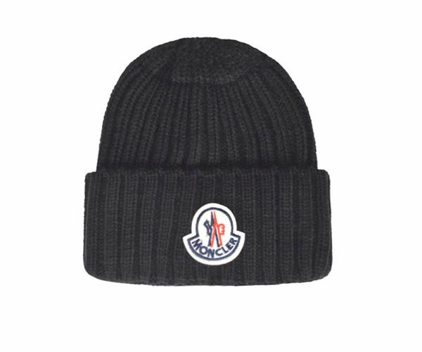 Moda de alta qualidade famosa marca Pure malha de algodão gorros hip hop bordado Unisex Inverno chapéus Cabeça Casual Warmer tampas ao ar livre