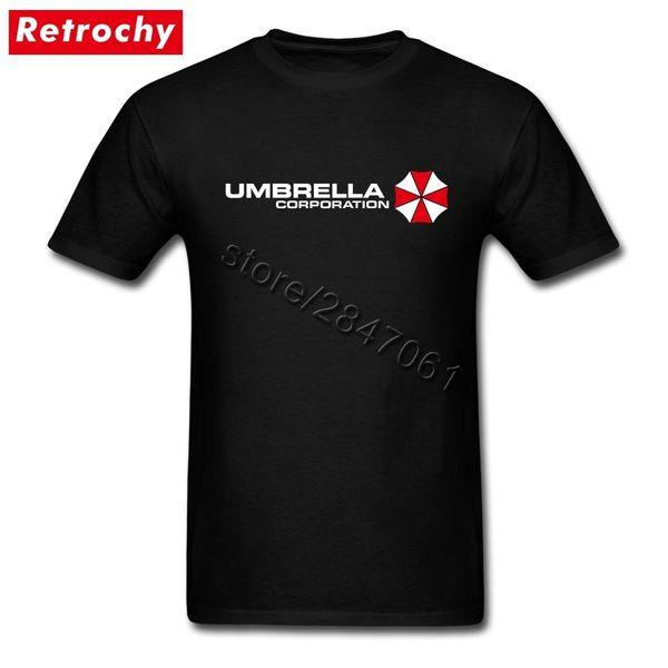 3xl Umbrella Corporation Tees Camisas Homens Rocha Mangas Curtas de Algodão Dos Homens de Verão Resident Evil T Shirts Estilo Vintage Merch J190524