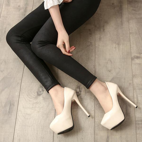 Night club/party/wed dress Business shoe Woman sandal super high stiletto heel 14cm heel round toe platform anal pump free fast shipping
