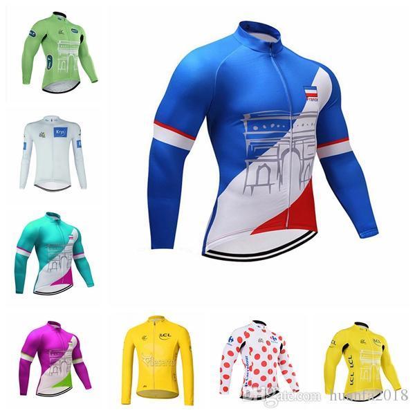 TOUR DE FRANCE équipe Maillots Cyclisme Manches longues Vêtements de sport VTT Vêtements Ropa ciclismo vtt Vélo Cyclisme D2818