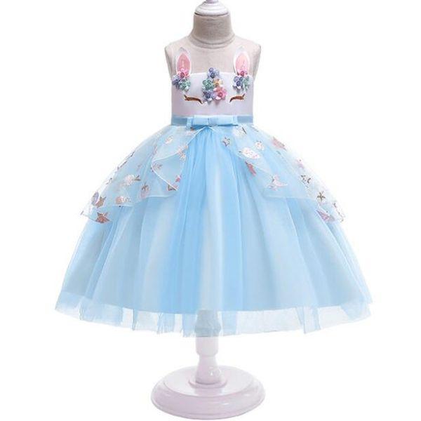 Ropa para bebés ropa de moda Princesa de Halloween Ropa de verano Vestidos de niños para niñas Unicornio lindo Vestido de fiesta de Navidad para niños