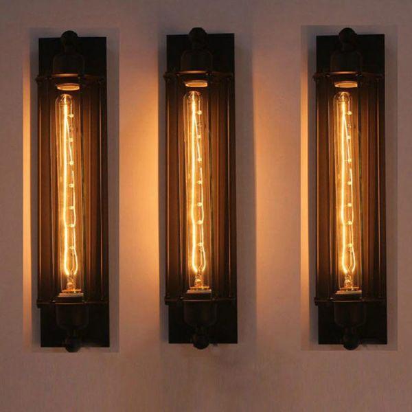 Wall Light Industrial Ferro dell'annata Retro Loft lampada da letto Corridoio Corridoio Warehouse Restaurant Bar Bar Cafe lampada da parete Sconce