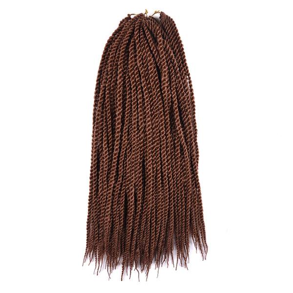 top popular Factory Clearance Sale Senegal Twist Hair Extensions Twist Crochet Braiding Hair Synthetic Jumbo Hair Braiding Senegalese In bundles 18Inch 2019