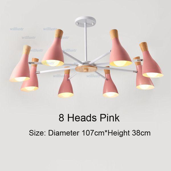 8 Heads Pink