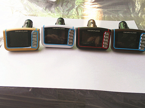 1.8 Inç CSTN Araba MP3 MP4 Çalar FM Verici Stereo Kablosuz 1.8 LCD SD MMC Kızılötesi Uzaktan Çoklu diller Ücretsiz nakliye