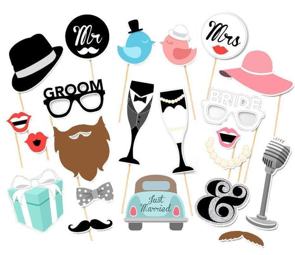 2019 Photo Booth Wedding Decoration Just Married Mr Mrs Bridal Shower Photo Booth Props party wedding props
