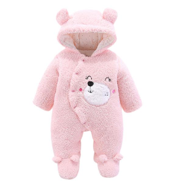 ARLONEET Infant Baby furry soft warm winter romper Girls&Boys Long Sleeve Fluffy HoodedJumpsuit Romper warm Clothes L0927MX190912