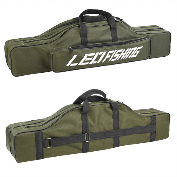 2018 80CM Army Green Fishing Bags Portable Folding Fishing Rod Carrier Pole Tools Storage Bag Case Gear Tackle #717363