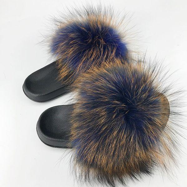 Raton laveur slippers_30 fourrure