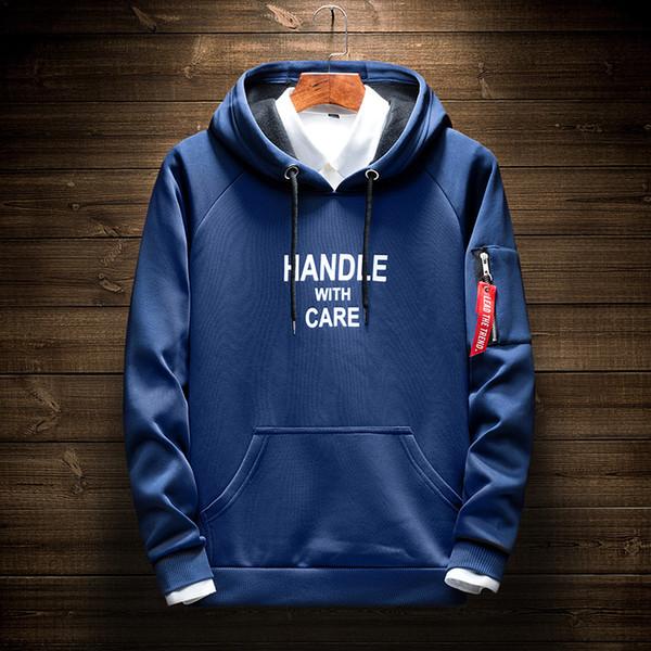 2019 Mens Hoodie Pullover Long Sleeve Sweatshirt Casual Hooded Tops Size M~4XL
