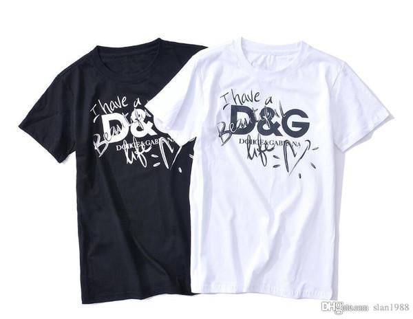 Eu sinto como PABLO carta vetement impressão encolher xxlDGe respirável circulares colarinho dos homens de manga curta T-shirt grátis Deliv