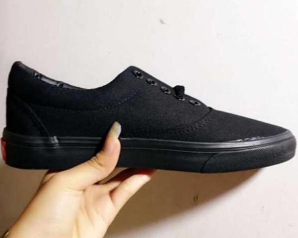 Zapatos de hombre 2018 New Classic Low-Top Hombre Mujer Lienzo Zapatos casuales Diseñador de mujer Zapatos de lona Sneaker 4 colores Tamaño: 35-45