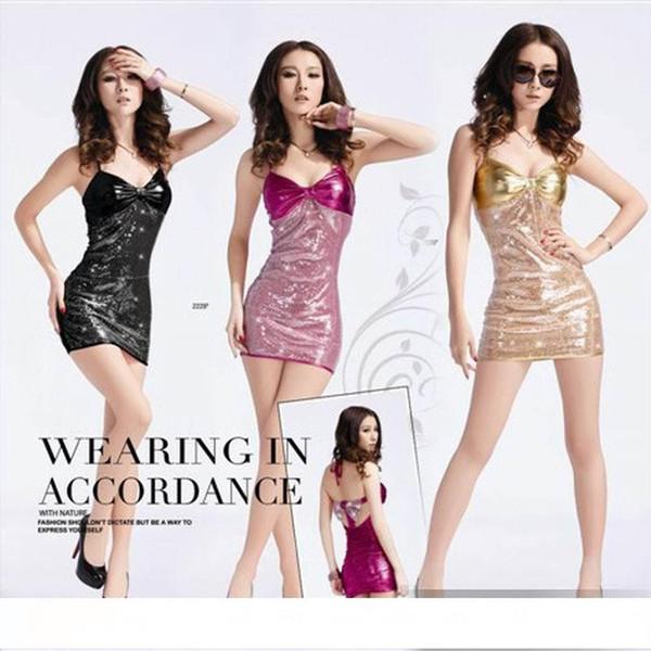 Mulheres sexy fashion showOutside o único traje de lantejoulas Noite de Natal boate feminino vestido Traje de Dança Quadrada