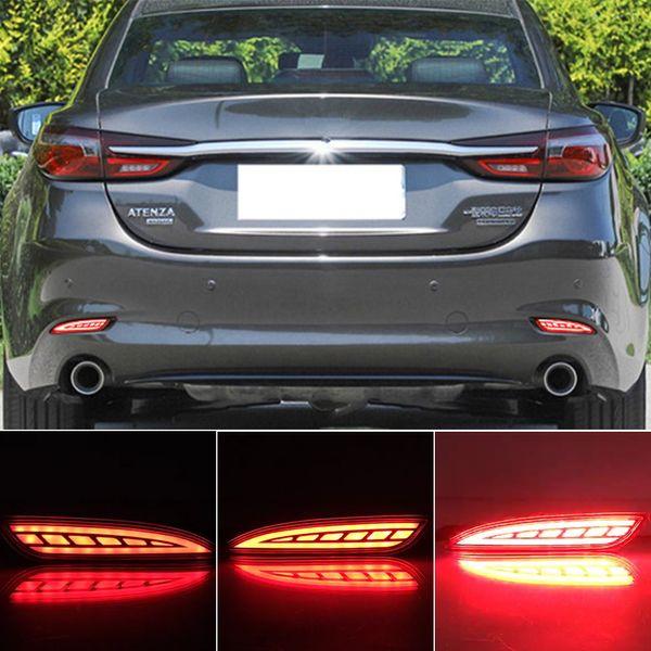 top popular 2PCS Reflector Rear Fog Lamp For Mazda 6 Mazda6 Atenza 2019 2020 Car LED Rear Bumper Brake Light Dynamic Turn Signal Light 2021