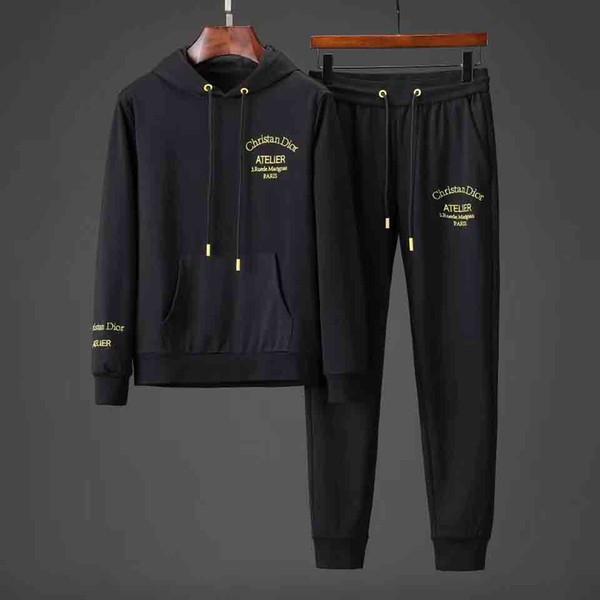 İtalya erkekler ceket spor İlkbahar Sonbahar Eşofman Erkekler Iki Parçalı Giyim Setleri Rahat Eşofman Spor 2019 sıcak medusa Ceket Pant