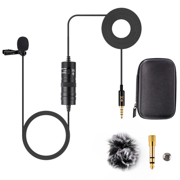 YC-VM10 6M Audio Video Record Lapel Microphone for Android phone Mac Vlog Mic Lavalier Microphone iPhone DSLR Camera Camcorder