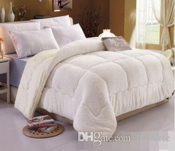 Gros-Camelhair couette de laine hiver chaud épaissir édredon / couette / couverture en duvet d'agneau remplissage roi reine taille simple double cachemire