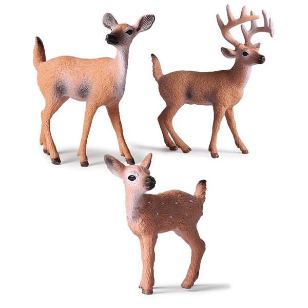 New HOT 1pcs Xmas Elk Plush Simulation New Year Christmas Decorations Christmas Ornaments for Home Gift Navidad