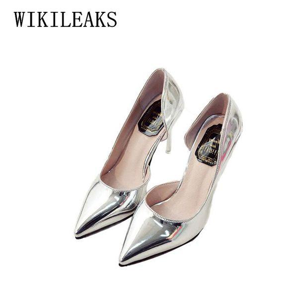 Designer abito scarpe oro nero donna tacco alto sapato femminile zapatos zapatos mujer pumps donna sandali italiani sexy tacchi alti