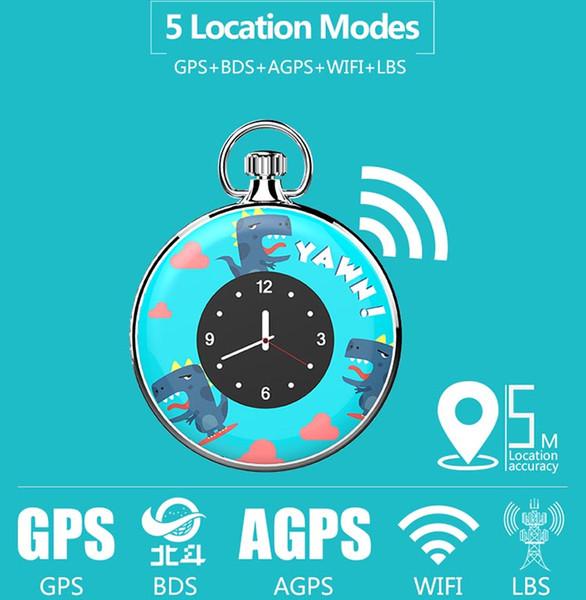 Super MiniLight Kid GPS Tracker Waterproof pendente relógio L70S SOS Chamada 1,22 Inch Círculo Tela LCD Histórico Route Jogue APP