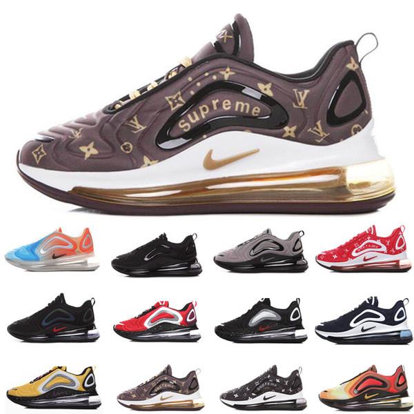 Acheter Nike Air Max 720 Hommes Femmes Chaussures De Course Northern Lights Night Triple Noir Total Eclipse Cool Grey Metallic Silver Trainer Sport