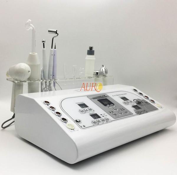 8 functions cautery vacuum spray brush cleaning high frequency ultrasonic galvanic facial machine beauty machine AU-8208