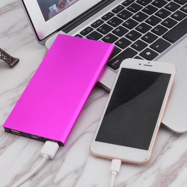 30000mAh Portable Dual USB Port External Battery Charger Phone Power Bank Ultra Thin Pink For Xiaomi MI iPhone Samsung