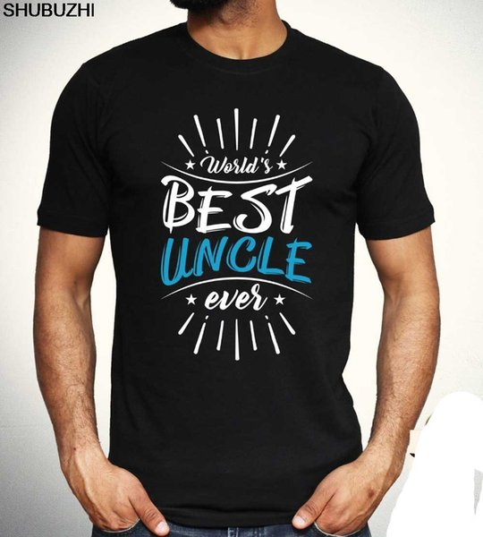 Men cotton New Short Sleeve Worlds Best Uncle T shirt Family Cool Birthday Gift Present Tee Mens Top Cotton T-Shirts sbz5531