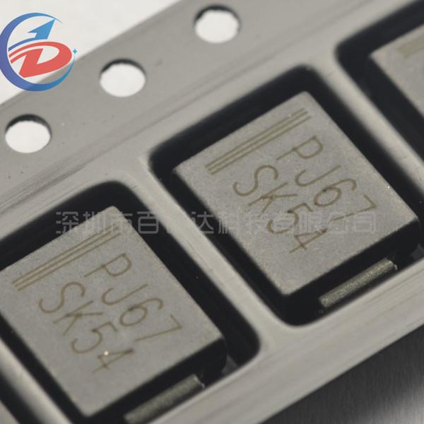 100Pcs/Pack SS54 SK54 5A 40V DO214AB SMC 1N5824 SMD diode