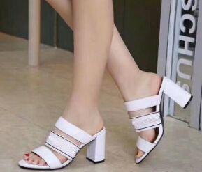new2 High heeled slippers causal slippers tian/blooms men women gold logo start print slide sandals unisex outdoor beach flip flops