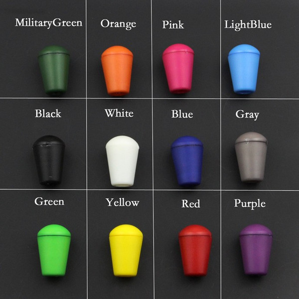 top popular 200pcs Colorful Cord Ends Bell Stopper With Lid Lock Plastic Toggle Clip For Paracord Clothes Bag Sports Wear Shoe #A029 2021