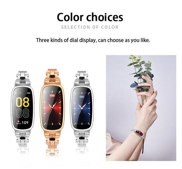 Kadın Renkli Ekran Nabız Uyku İzleme Akıllı Izle Su Geçirmez Bilezik Bileklik Saat Kayışı spor izci 2019 # G20
